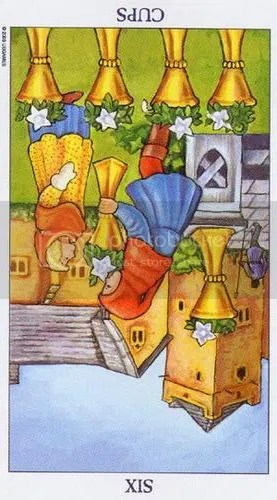 Radiant Rider-Waite Six of Cups Reversed