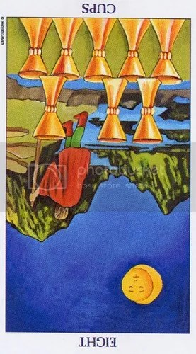 Leo - Eight of Cups reversed