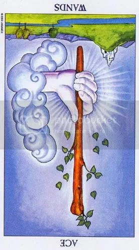 Libra - Ace of Wands reversed