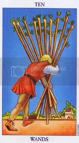 Aries - Ten of Wands