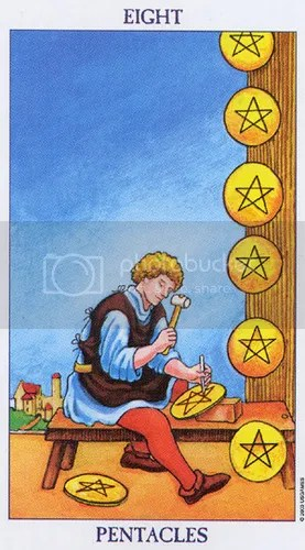 Sagittarius - Eight of Pentacles