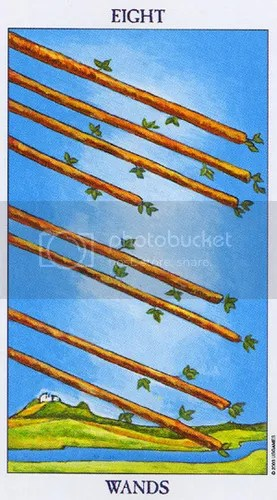 Sagittarius - Eight of Wands