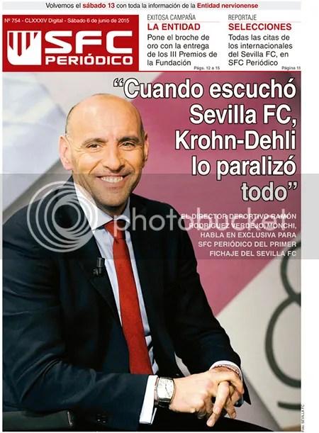 """2015-06 (06) SFC Periódico Monchi """"Cuando escuchó Sevilla FC, Krohn-Dehli lo paralizó todo"""""""