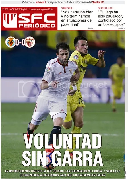 2016-08 (29) SFC Periódico Villarreal 0 Sevilla 0
