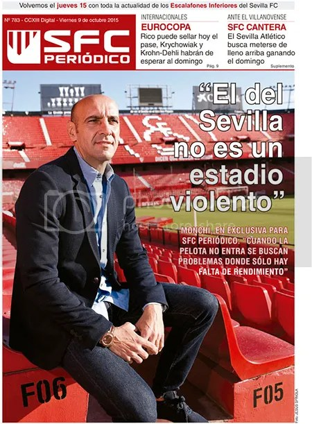 """2015-10 (09) SFC Periódico Monchi: """"El del SFC no es un estadio violento"""""""