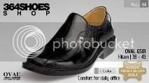 Sepatu Pria OVAL 6501 Hitam