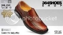 Sepatu Pria OVAL 6501 Tan