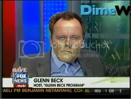 Glenn Beck huffs paint.