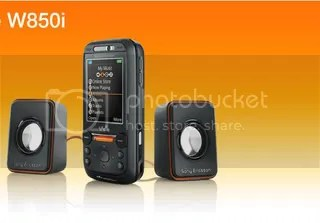 Sony Ericsson W850i with Speakers