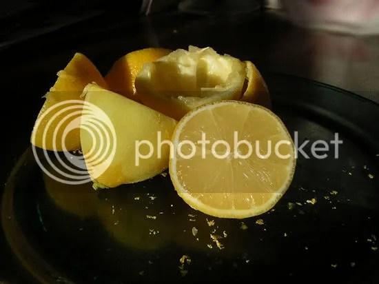Lemons used to make the lemon bars