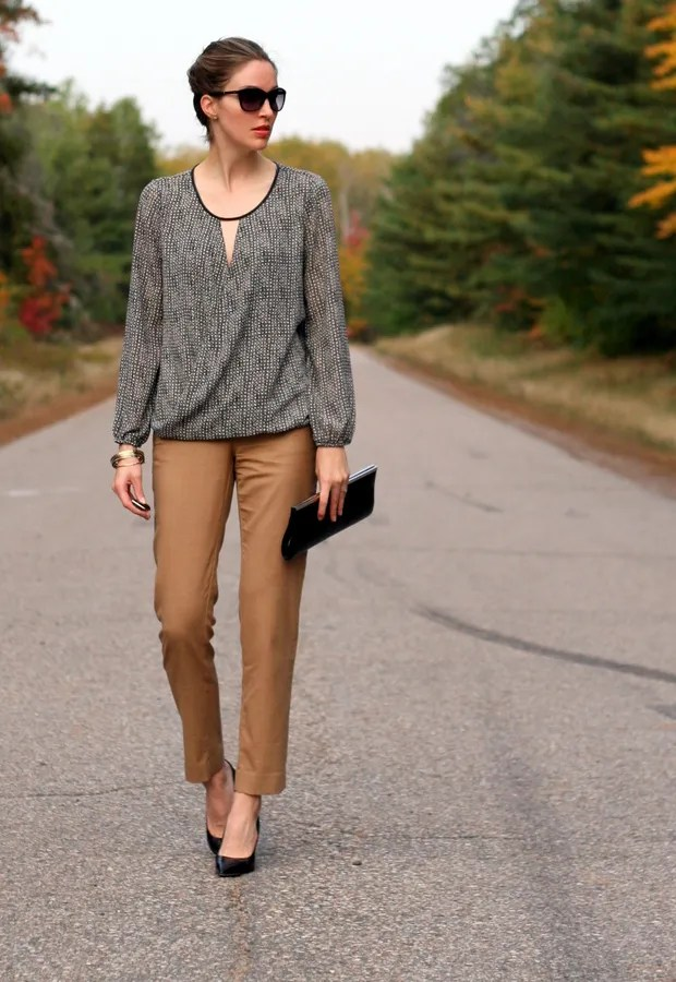 beige crop ankle pants