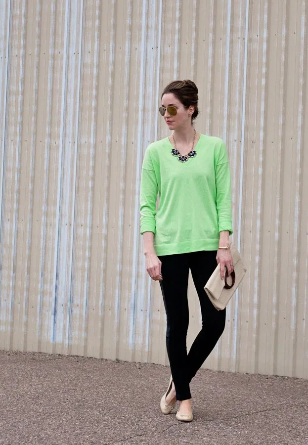 gap luxlight lime neon green sweater