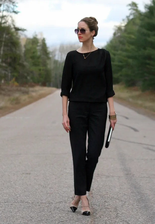 single color monochrome outfit fall autumn