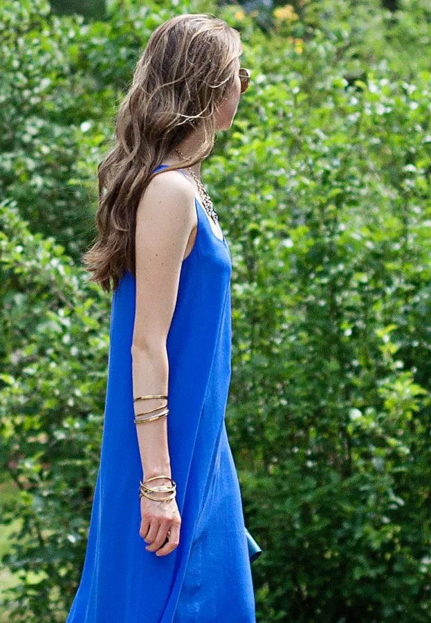 laura wears ankle length maxi dress
