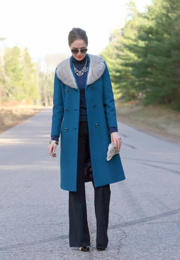 teal blue wool