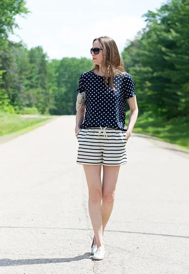 Polka Dots and Stripes Summer Pattern Mixing