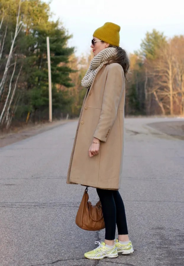 casual winter cashmere hat wool coat