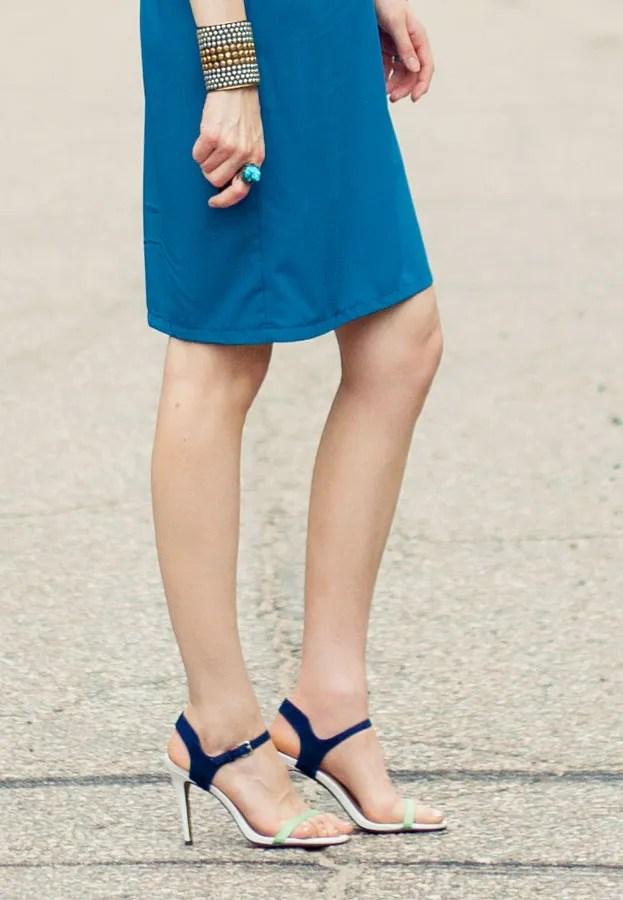 Laura Wears ... Charles David Reverse Sandals