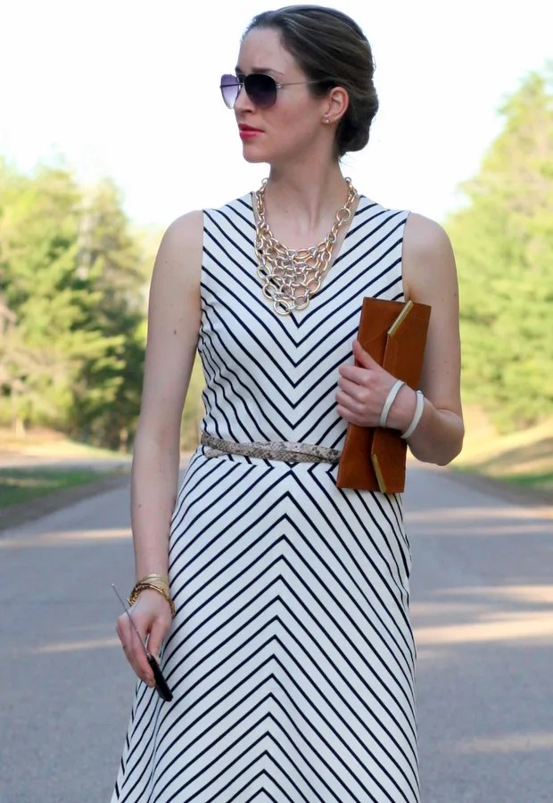 banana republic stripe ponte dress