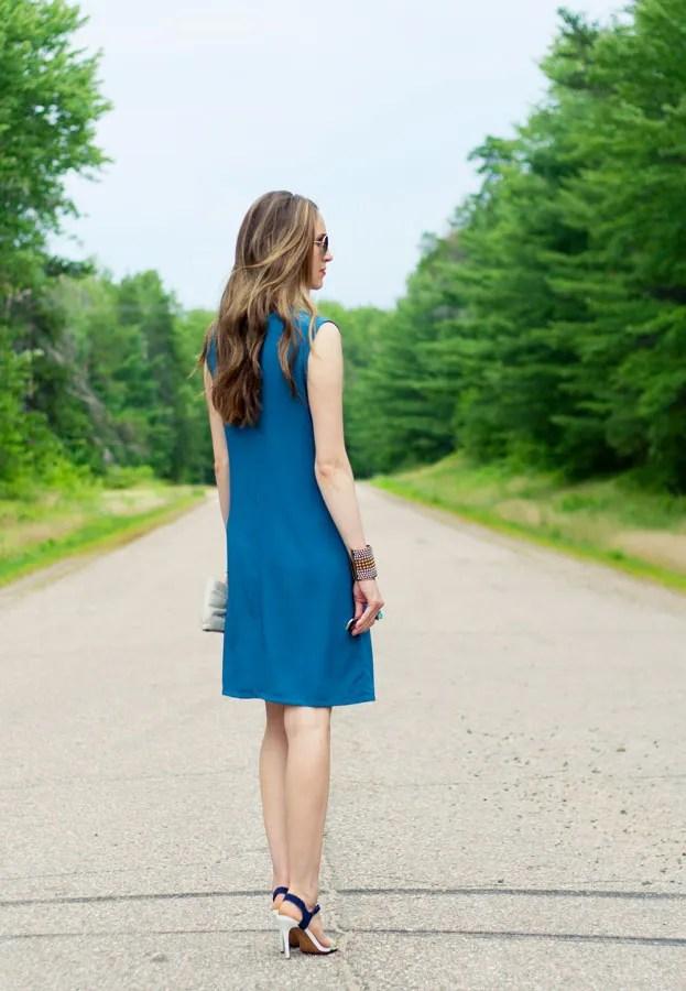 Laura Wears ... teal shift dress