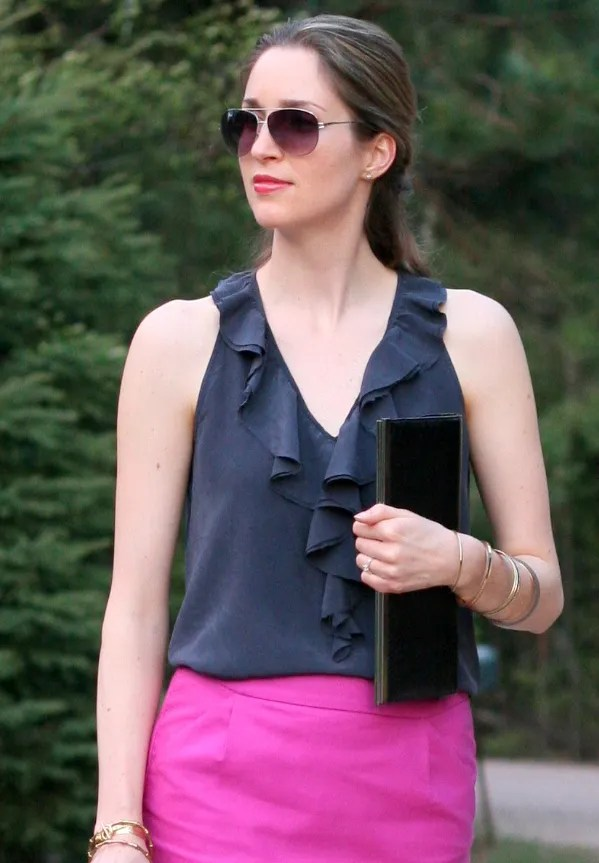 pink and navy blue outfit personal style fashion blog