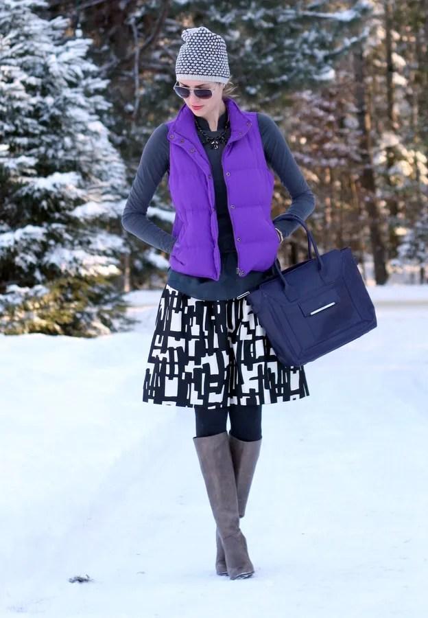 winter outfit j.crew vest