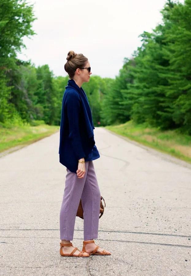 Laura Wears ... draped cardigan sweater