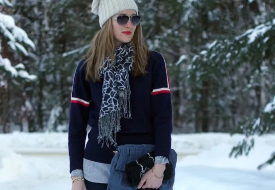 vintage ski sweater winter yoga jeans