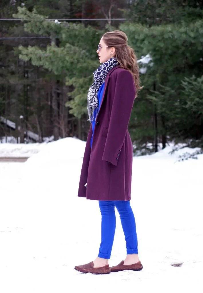 burgundy blue aritzia gap skinny