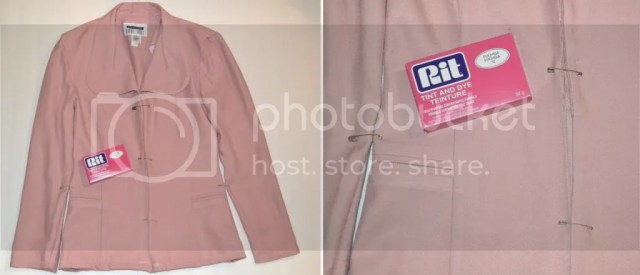 ombre, blazer, pink, garage, tank, flowers, shorts, white, marshalls, diy, craft, project, jacket, dye, rit