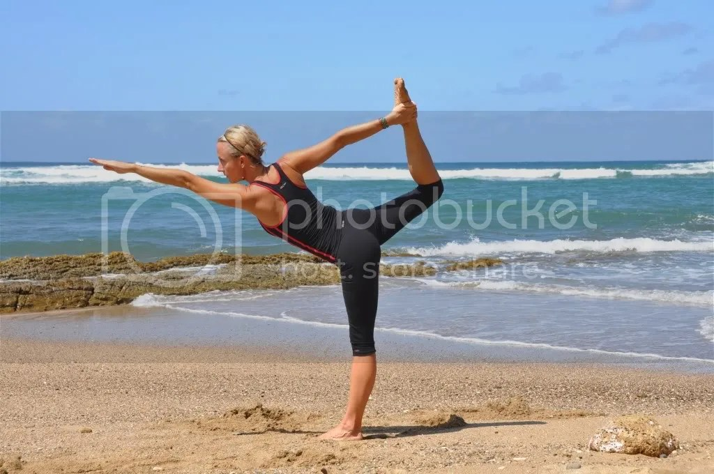 beach fitness photo: Yoga Beach_standing_bow_pose12443606.jpg