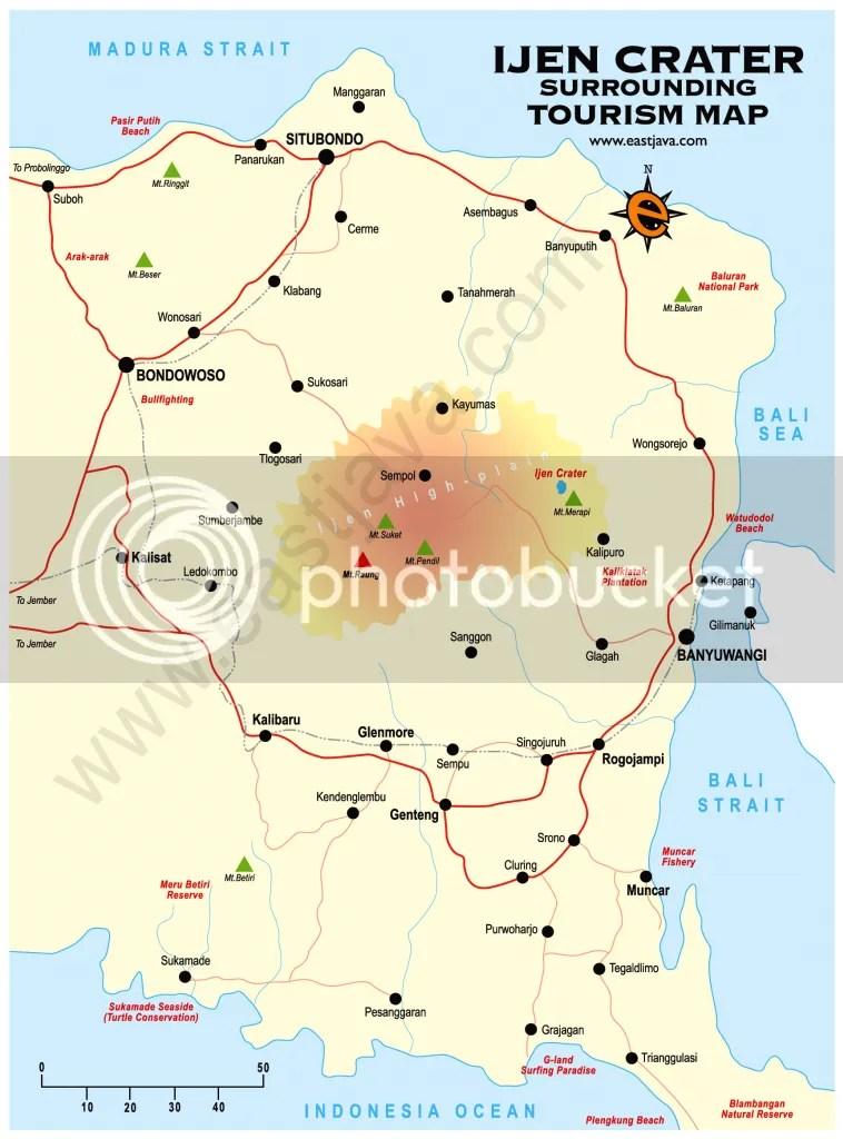 Banyuwangi-Ijen Crater Map