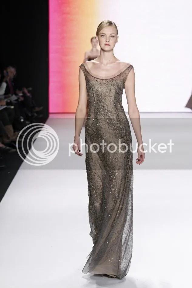 39. Caroline: Gray embroidered dégradé gown.