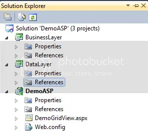 Enlace a datos GridView Code-Behind C# 3 Capas ASP.NET 2-n (3/3)