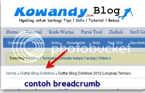breadcrumb blog