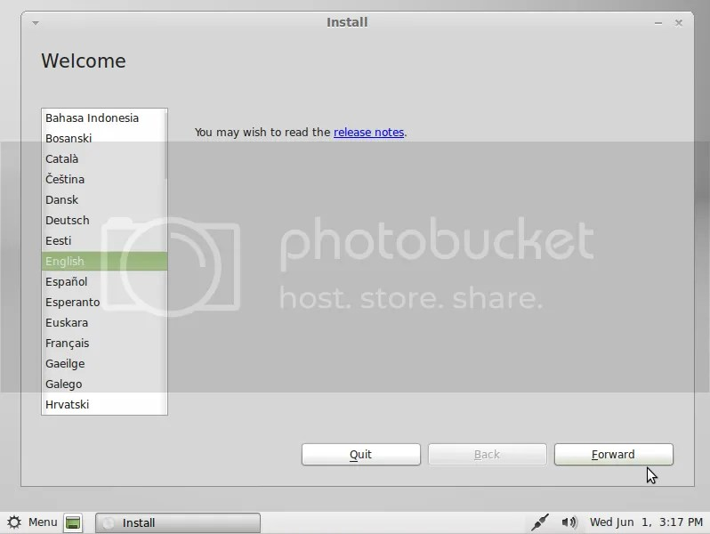 Hướng dẫn cài đặt Linux Mint 11 trên máy đã có Windows 7 (2/6)