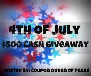 4th of July $500 CASH Giveaway!