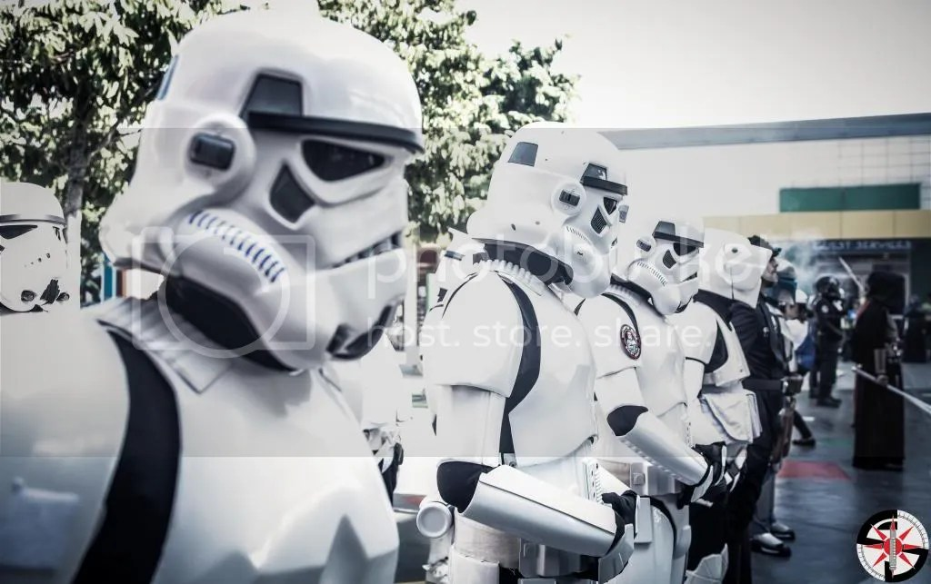 Troopers in formation