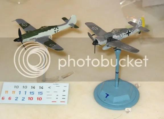 Bandai FW 190D-9 next to 21st Century Toys FW 190A-8