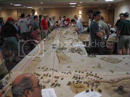 Huge Tobruk game in 15mm put on by Frank Chadwick (and others)