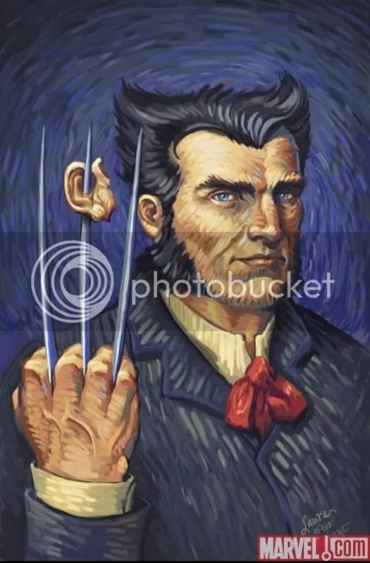 Wolverine al estilo de Vincent Van Gogh.