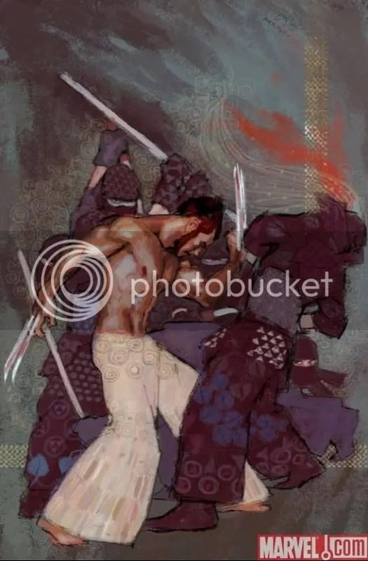 Wolverine al estilo de Gustav Klimt.