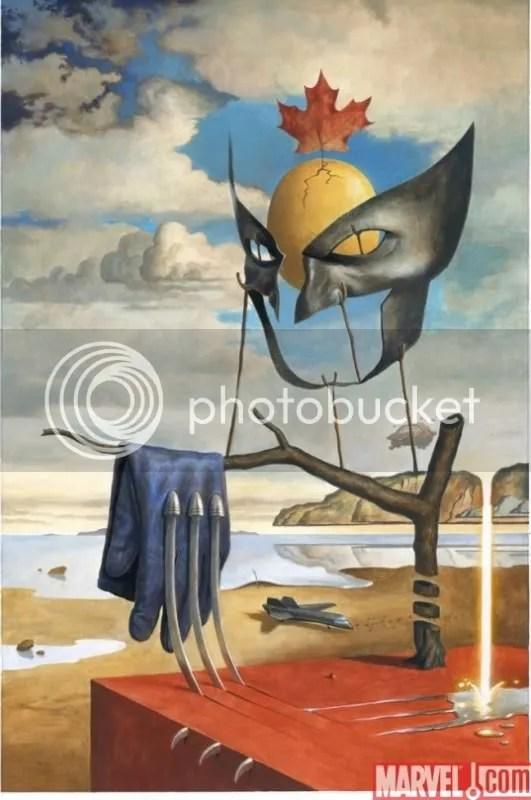 Wolverine al estilo de Salvador Dalí.