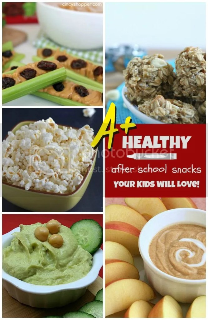 Great list of healthy after school snacks for your kids - pin to save for later!