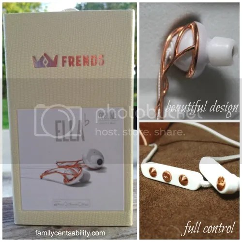 Frends' Ella B rose gold earbuds are stylish, comfortable, and have great sound!