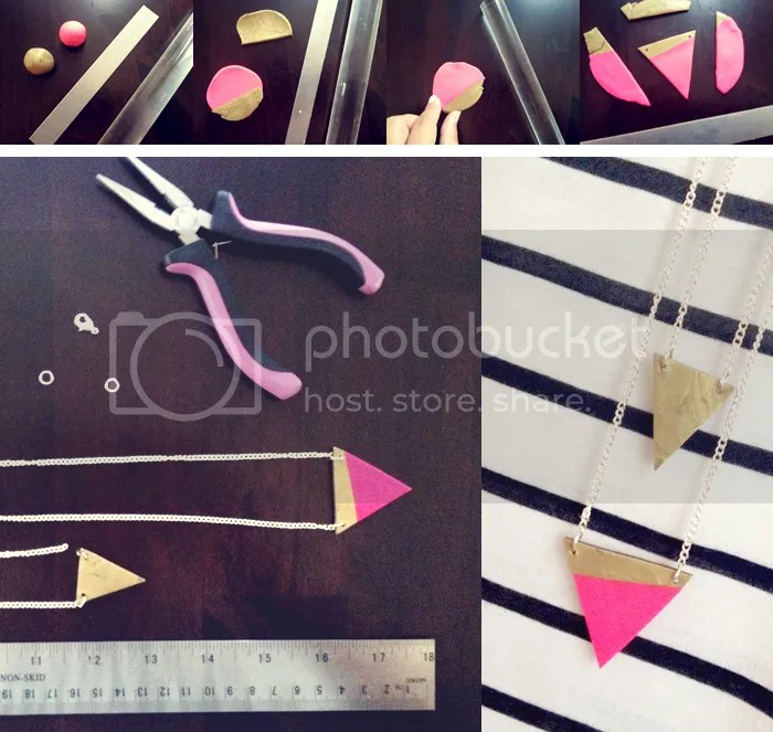 DIY simple triangle necklace by creative index