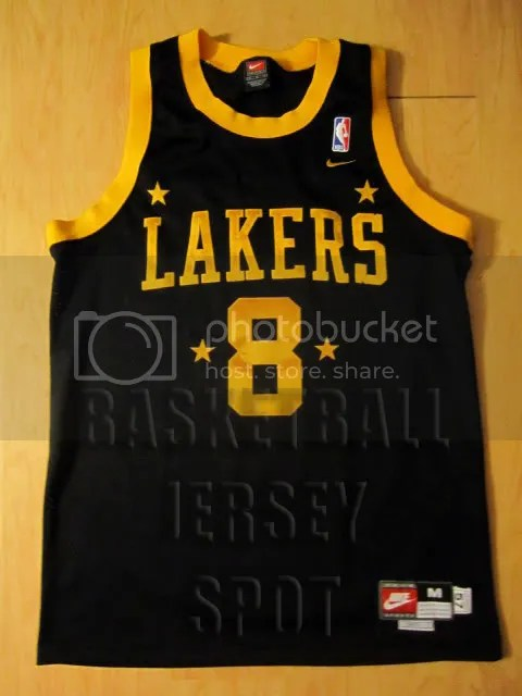 official photos 6b005 661ad Kobe Bryant Los Angeles Lakers Nike Rewind Swingman Black ...