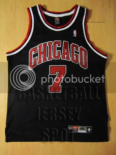 online retailer bc696 6f5f9 Toni Kukoc Chicago Bulls Nike Authentic Black Size 48 Jersey ...
