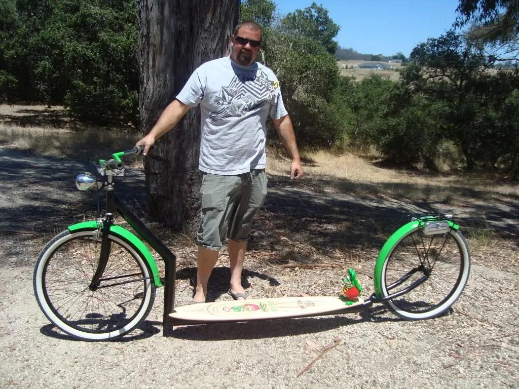 'Rat Fink' tandem scooter