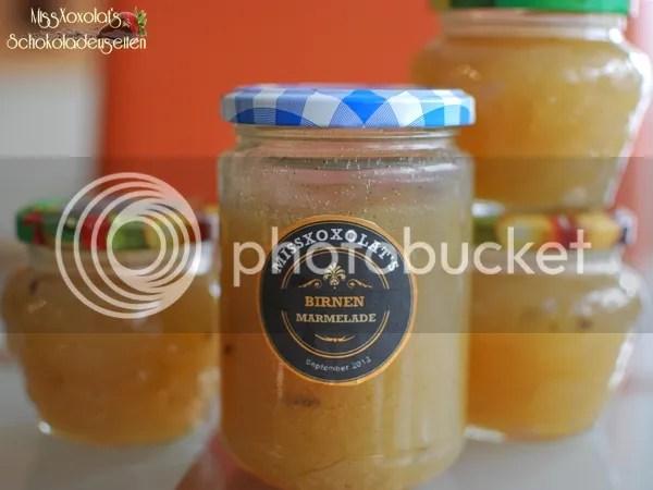 Birnen-Marmelade. Konfitüre